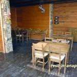 Гостиница «Бретань» в Сукко: кафе на улице