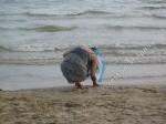 Песчаный пляж поздним вечером